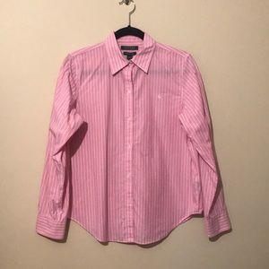 Pink and white Lauren Ralph Lauren Shirt Size M